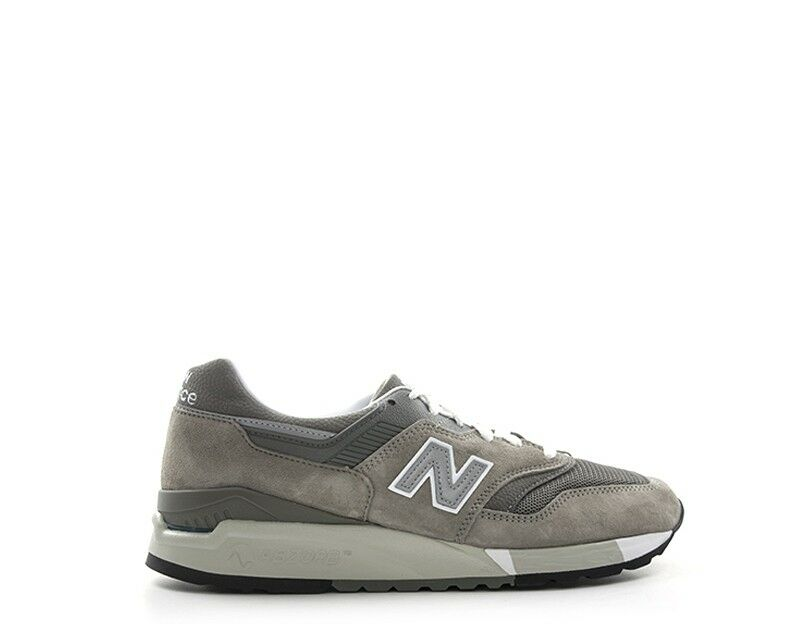 shoes NEW BALANCE men Sneakers trendy  grey Scamosciato,Tessuto M9975GR