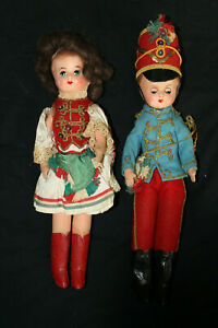 Pair-of-Vintage-Hungarian-Dolls-Boy-and-Girl-Cloth-Classic-Look