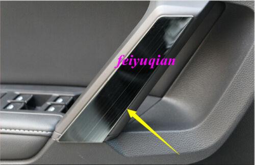 4x Black titanium Inner Door Armrest Handle Cover trim for VW Tiguan 2018 2019