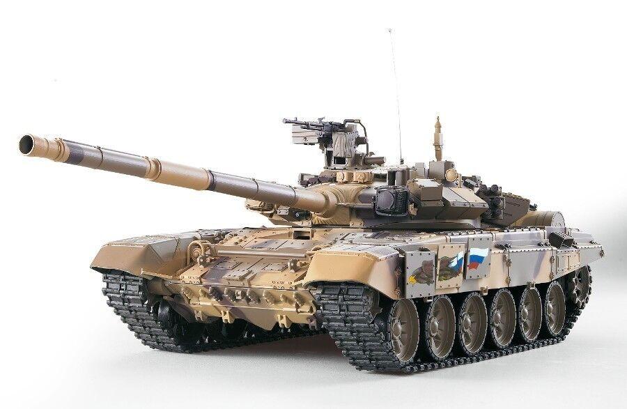 RC carro armato russo t90 Heng-LONG BB 1:16 fumo Sound ingranaggi in metallo 2,4 GHz