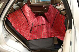 CAR DOG SEAT COVER PET WATERPROOF PROTECTIVE COVER HAMMOCK RED CHECK SBH7033
