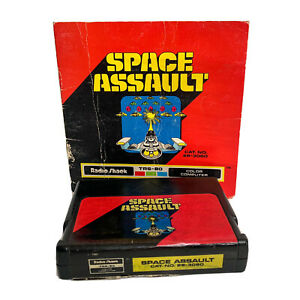 Space-Assault-game-for-Radio-Shack-Tandy-TRS-80-Color-Computer-26-3060-w-Manual