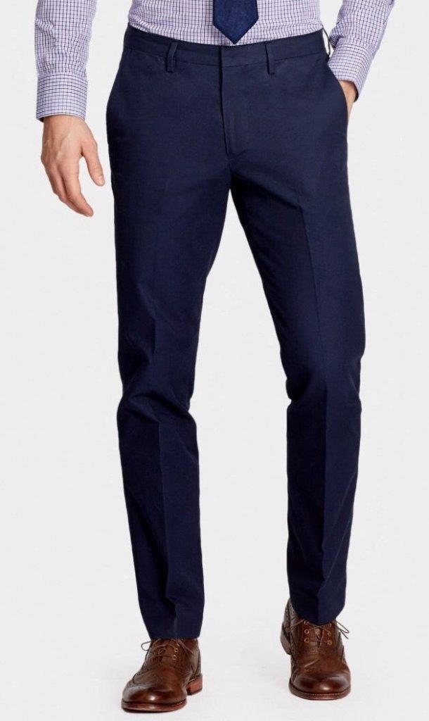 BONOBOS The FOUNDATION Cotton Tailor Fit Trouser Pant Size 32X32 Navy