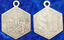 Medaille Messing Klippe o.J. versilbert Deutsche Kolonien fast vz