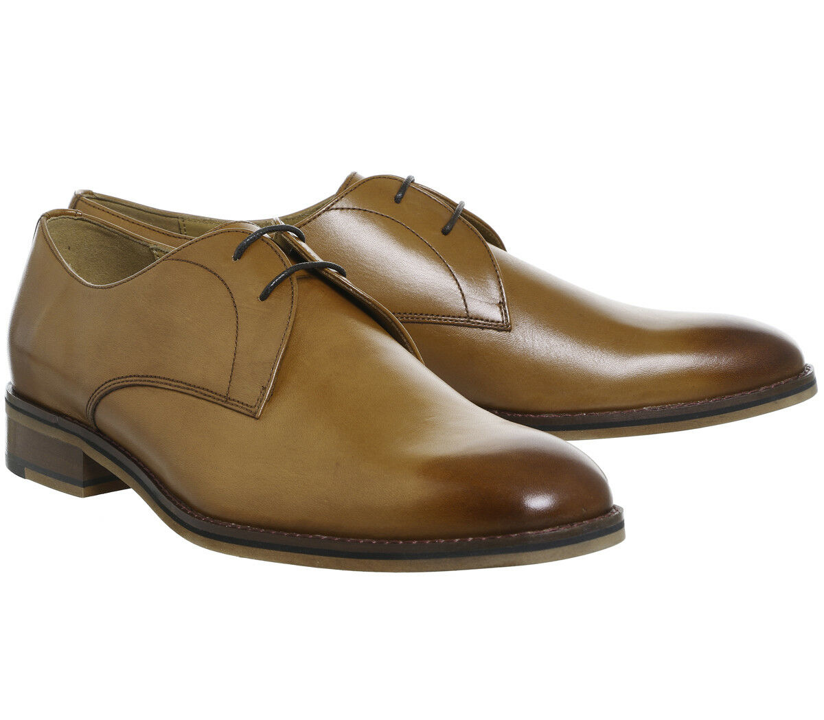 Ask the Missus Fargo Derby Tan Leather Lace Up Mens shoes UK Size 11