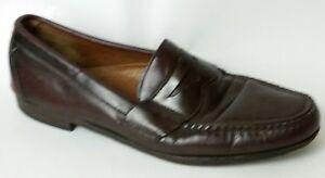1afc6812d90 Allen Edmonds Walden Penny Loafers Mens 11 B Red Brown Leather Dress ...