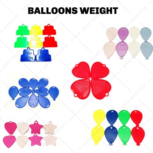PLASTIC Balloon Weights-STAR HEART BALLOON SHAPE FOIL// HELIUM Party Baloons UK