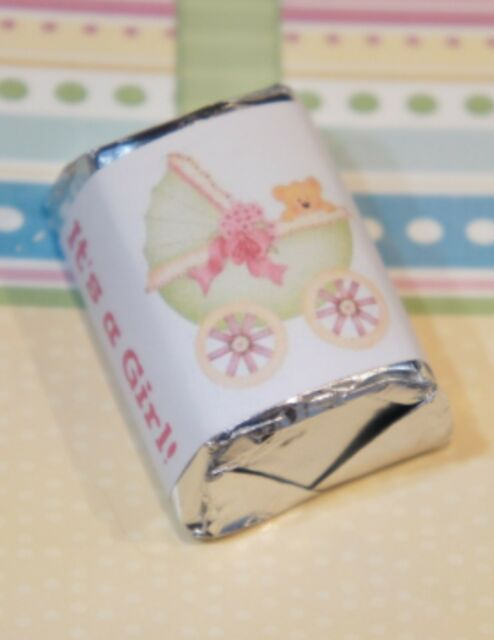 30 pink baby feet Hershey Nugget Wrappers,Favors,stickers,label,Baby Girl Shower