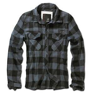 Brandit-Checkshirt-black-grey-Herren-Hemd-black-grey-Karo-schwarz-grau