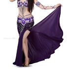Belly Dance Costume Sequins Split Long Skirt Tight Hip Style Skirt 9 colors