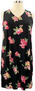 Susan-Graver-L-Black-Floral-Liquid-Knit-Sleeveless-Tiered-Dress-A377870
