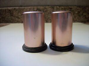 Image Is Loading Vintage Copper Colored Aluminum Salt Amp Pepper Shakers
