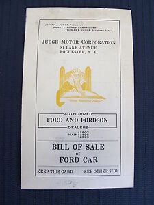 judge motor corp rochester ny ford forson dealers bill of sale of