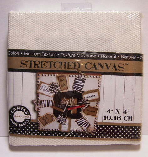 Paper Arts Rubber Stamping! Stretched Natural Canvas 4x4 Perfect for Collage