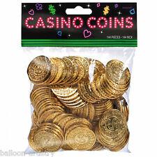 144 posizionare le Scommesse Casinò Playing Card Night Party Prop MONETE D'ORO DECORAZIONI