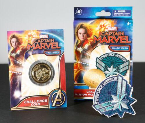 2019 Captain Marvel Challenge Coin /& Patch Sets You Choose!