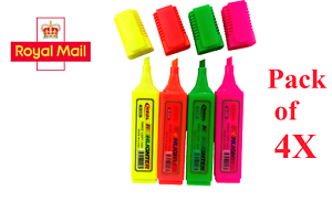 Details about Highlighters Markers Pens Stationary Pink/Orange/Yellow/Green  FREE-POSTAGE