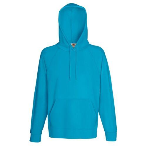Fruit Of The Loom Mens Lightweight Hooded Sweatshirt BC2654 240 GSM Hoodie