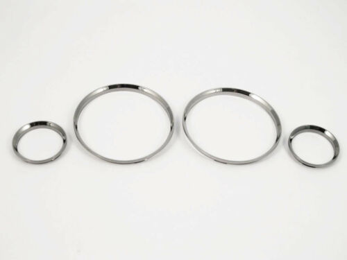 Black Chrome Gauge dashboard rings bazel fits 1982-1994 BMW E30