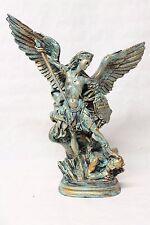Statua San Michele Arcangelo in resina,color BRONZO antico,40 cm,per intemperie.