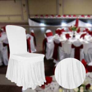 Spandex-Chair-Cover-a-volants-blanc-jupe-style-plissee-Banquet-Anniversaire-Fete