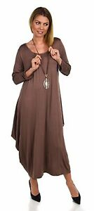 1303742efe Image is loading Women-Lagenlook-Plus-Size-Summer-Dress-Quirky-Loose-