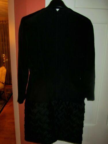 Black Carolyn Herrera Dress Zipper Back w/zipper c