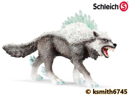 Schleich eldrador créatures Snow Wolf Jouet en plastique Effrayant glace Chien Animal nouveau