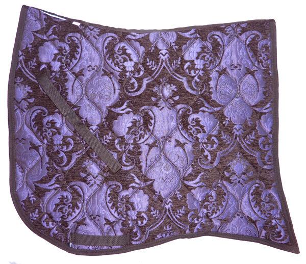 oferta  tragar Cola  púrpura en negro  barroco Doma Silla Almohadilla  online barato