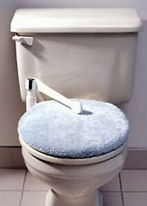Brand new child safety automatic toilet seat lid lock ebay for Touchless toilet seat