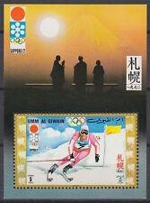 Umm al Qiwain 1971 ** Bl.30 Winter Olympic Games Olympische Spiele, Ski slalom
