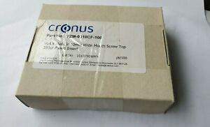 CRONUS-VZM-0310CF-100-VIAL-X-VIAL-CLR-10mm-WIDE-MOUTH-SCREW-TOP-350UL-FUSED-INSE