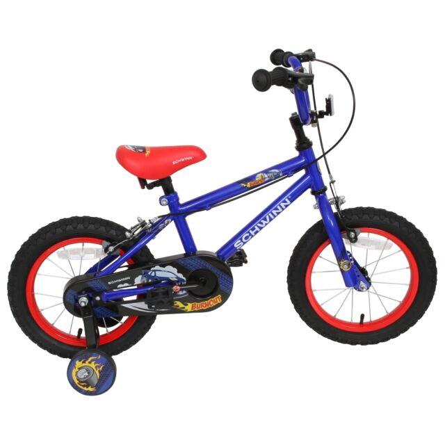 "Schwinn 14"" Burnout Bike, Kids Bicycle with Stabilisers & Chainguard"