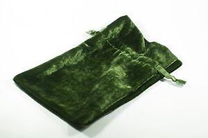 """Green Velvet Gift Dice Bag 4"""" x 6"""" Dice Bag w/ Grey Velvet Lining Counter Pouch"""