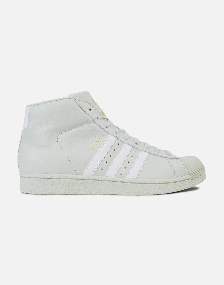 NEW homme ADIDAS ORIGINALS PRO MODEL chaussures  [CQ0626]  LIGHT GREEN//blanc