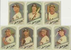 MIAMI-MARLINS-2018-Topps-Allen-Ginter-HOT-BOX-SILVER-GLOSSY-TEAM-SET-w-3-SPs-7