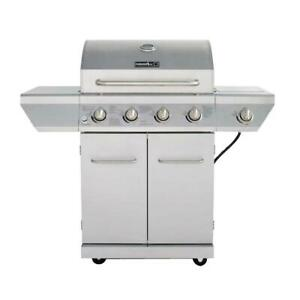Nexgrill 4 Burner Propane Gas Grill Stainless Steel Side Burner BBQ Outdoor New