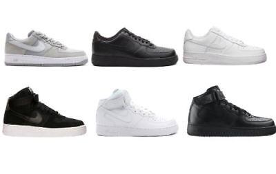 Scarpe Nike Air Force one 1 white bianche nere alte basse 315123 111 315122 111 | eBay