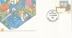 (13919) Australia Postal Stationery Fdc Shelter For Homeless 23 Jan 1987