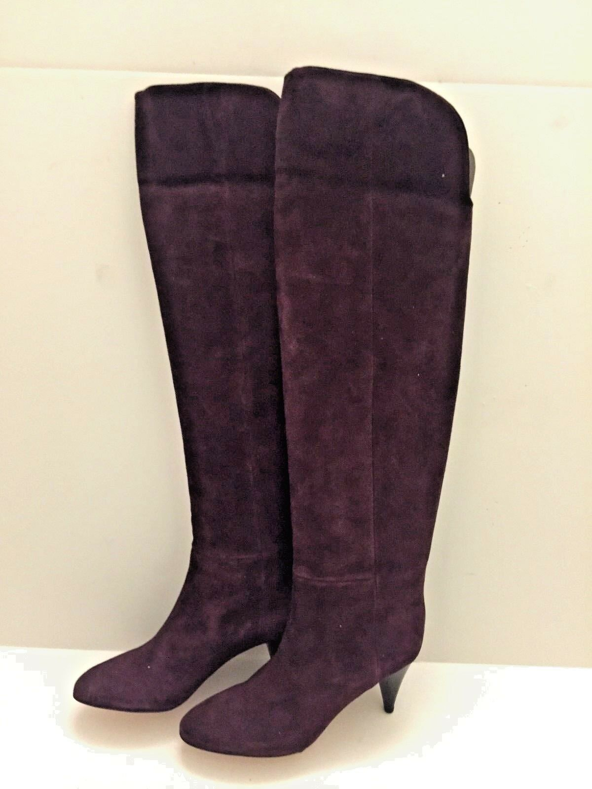 LOEFFLER RANDALL  Burgundy Over the Knee Suede Boots Size 8.5 NIB NEW  725