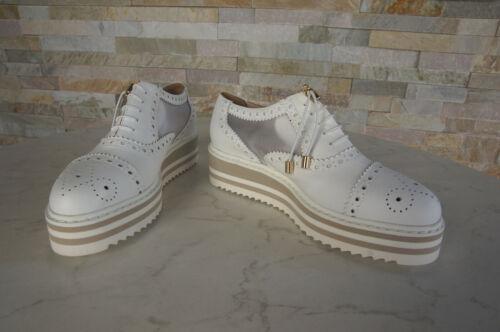 36 Ehem € Novità Platform Trend Lace Up Shoes 290 uvp Bianco Baldinini aAR8q7