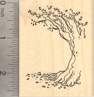 Its Not What Under The Tree That Matters Rubber Stamp Wood Mounted 2.5 Inch by 2 Inch
