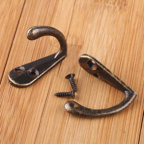 Mur de porte Crochets Cintres Antique pour vêtements métalliques clés Ma 10pcs