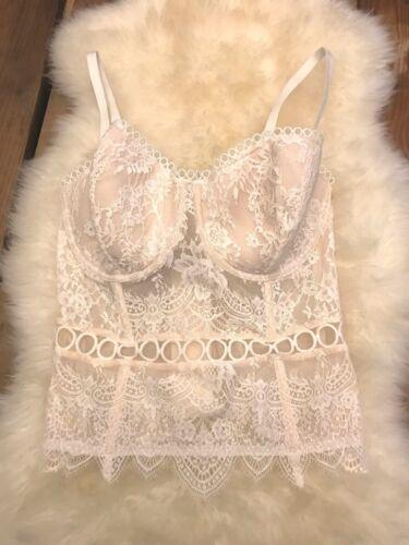 Coconut Angels Ch26 White pizzo Secret Bustier 78 floreale in Victoria's Anelli Dream A8Sq6