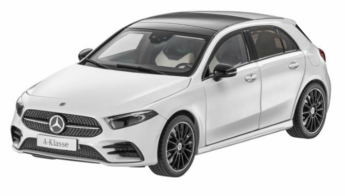 MERCEDES Benz W 177 a classe 2018 AMG Styling Digital Bianco 1:18 NUOVO OVP