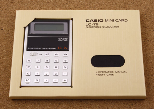 Casio LC-79 Vintage Calculator 1979 Made in Japan 55x85mm New Old Stock