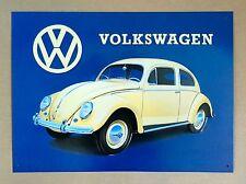 VW Volkswagen Beetle - Tin Metal Wall Sign