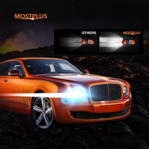 MOSTPLUS 9005+9006 160W 16000LM LED Headlight Hi//Low Beams 6000K White Bulbs