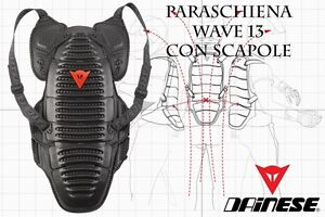 NEW-DAINESE-PARASCIENA-WAVE-13-CON-SCAPOLE-BACK-PROTECTOR-BLACK-SIZE-M