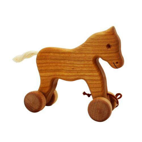 Ziehtier Pferd Benno aus MassivholzHandarbeit